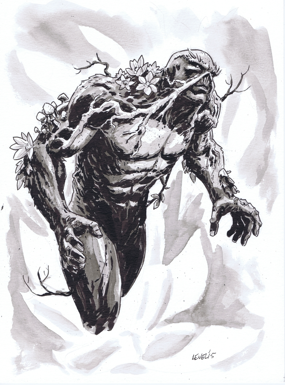 Swamp Thing sketch by Brian Level